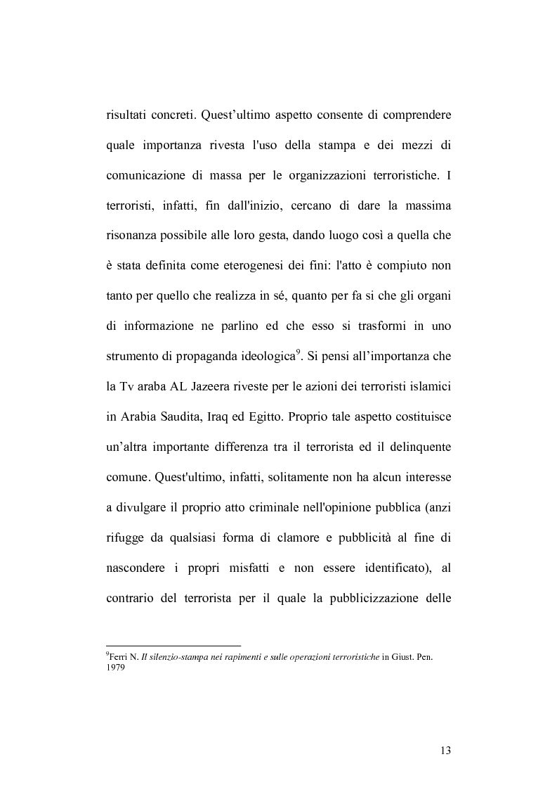 Anteprima della tesi: Terrorismo islamico e media nel XXI esimo secolo, Pagina 10