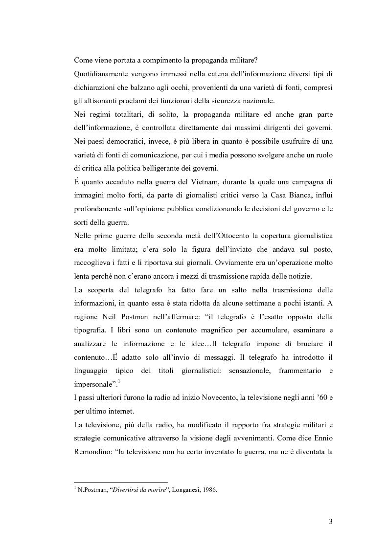 Anteprima della tesi: Informazione e mass media durante i conflitti bellici, Pagina 2