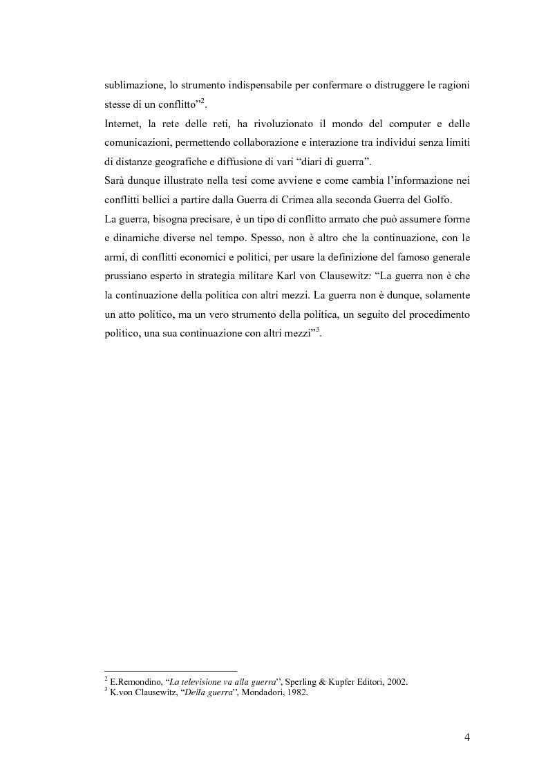 Anteprima della tesi: Informazione e mass media durante i conflitti bellici, Pagina 3