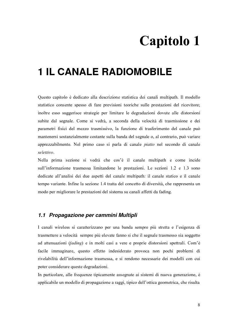 Anteprima della tesi: Schemi di Codifica per Sistemi di Trasmissione Multiple Input Multiple Output, Pagina 1