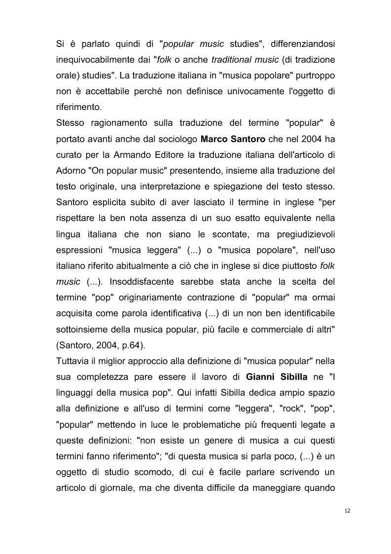 Anteprima della tesi: Origini del giornalismo musicale italiano nelle riviste specializzate degli anni '70, Pagina 10