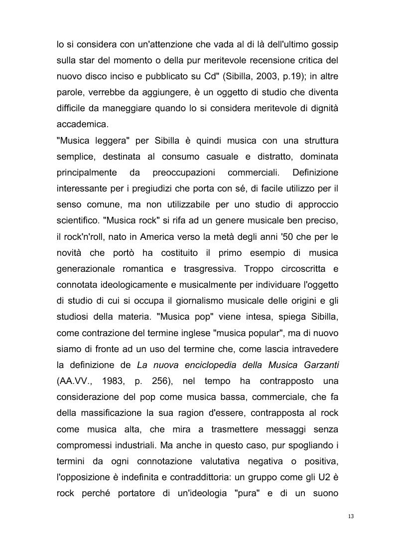 Anteprima della tesi: Origini del giornalismo musicale italiano nelle riviste specializzate degli anni '70, Pagina 11