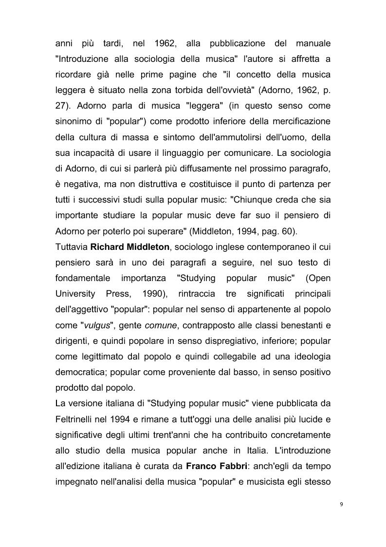 Anteprima della tesi: Origini del giornalismo musicale italiano nelle riviste specializzate degli anni '70, Pagina 7