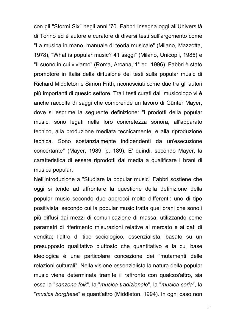 Anteprima della tesi: Origini del giornalismo musicale italiano nelle riviste specializzate degli anni '70, Pagina 8
