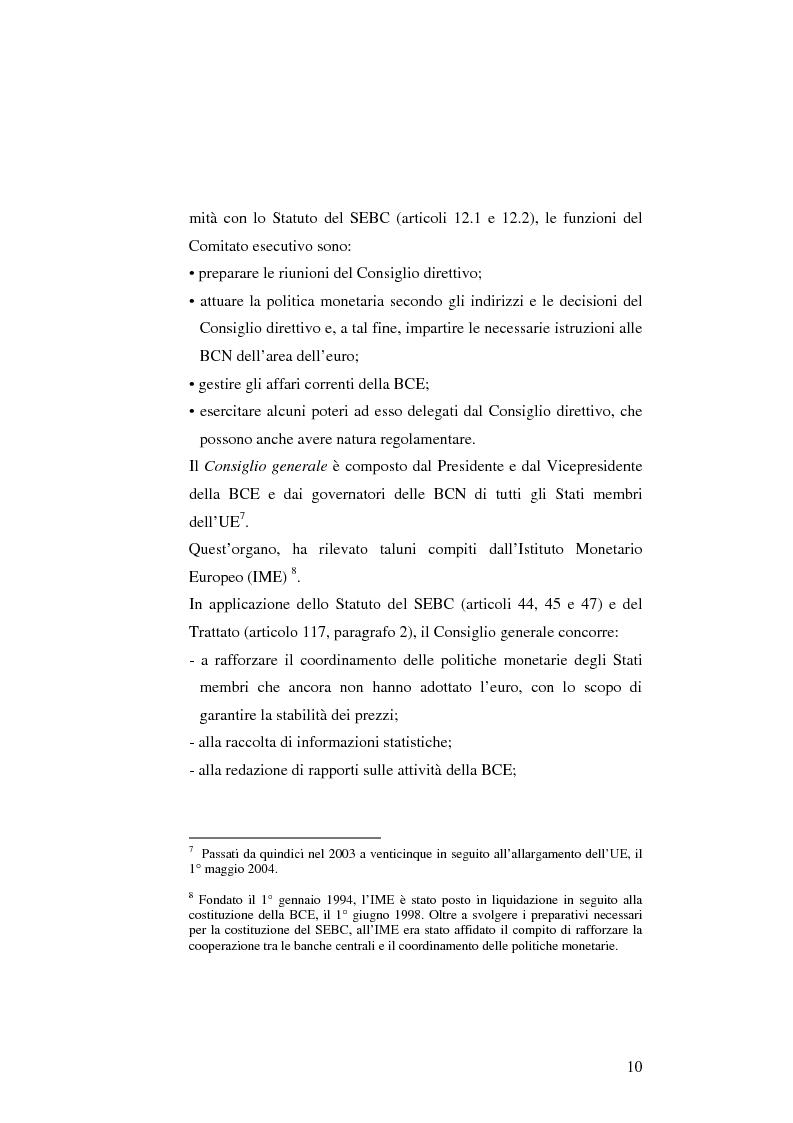 Anteprima della tesi: La politica monetaria della Banca Centrale Europea, Pagina 10