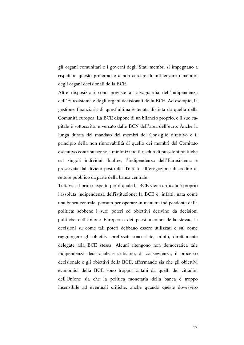 Anteprima della tesi: La politica monetaria della Banca Centrale Europea, Pagina 13