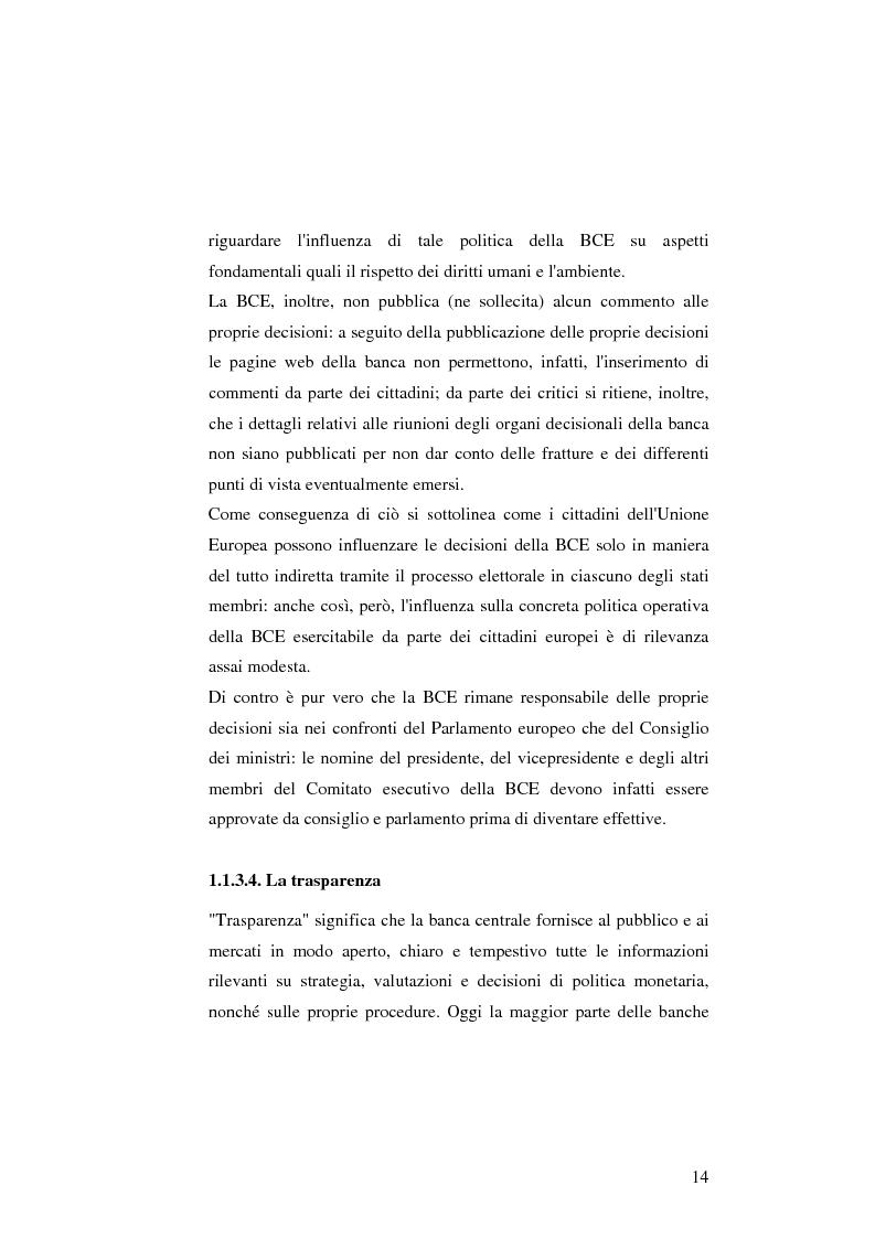 Anteprima della tesi: La politica monetaria della Banca Centrale Europea, Pagina 14
