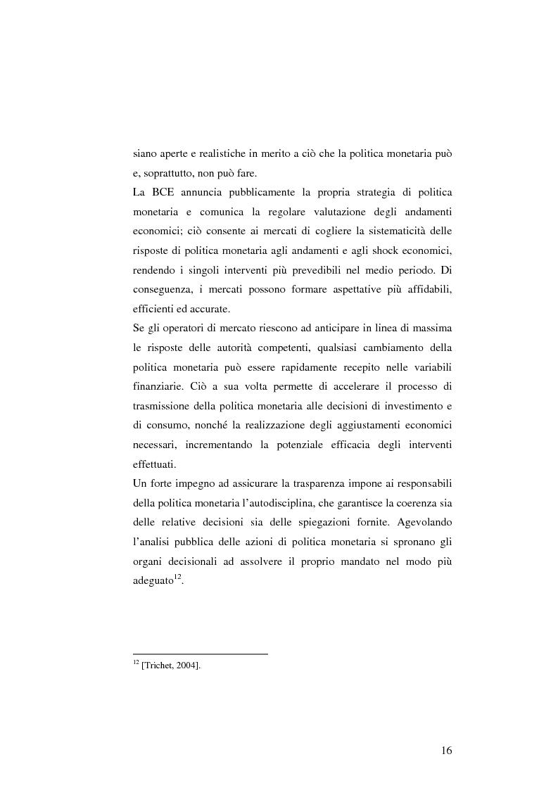 Anteprima della tesi: La politica monetaria della Banca Centrale Europea, Pagina 16