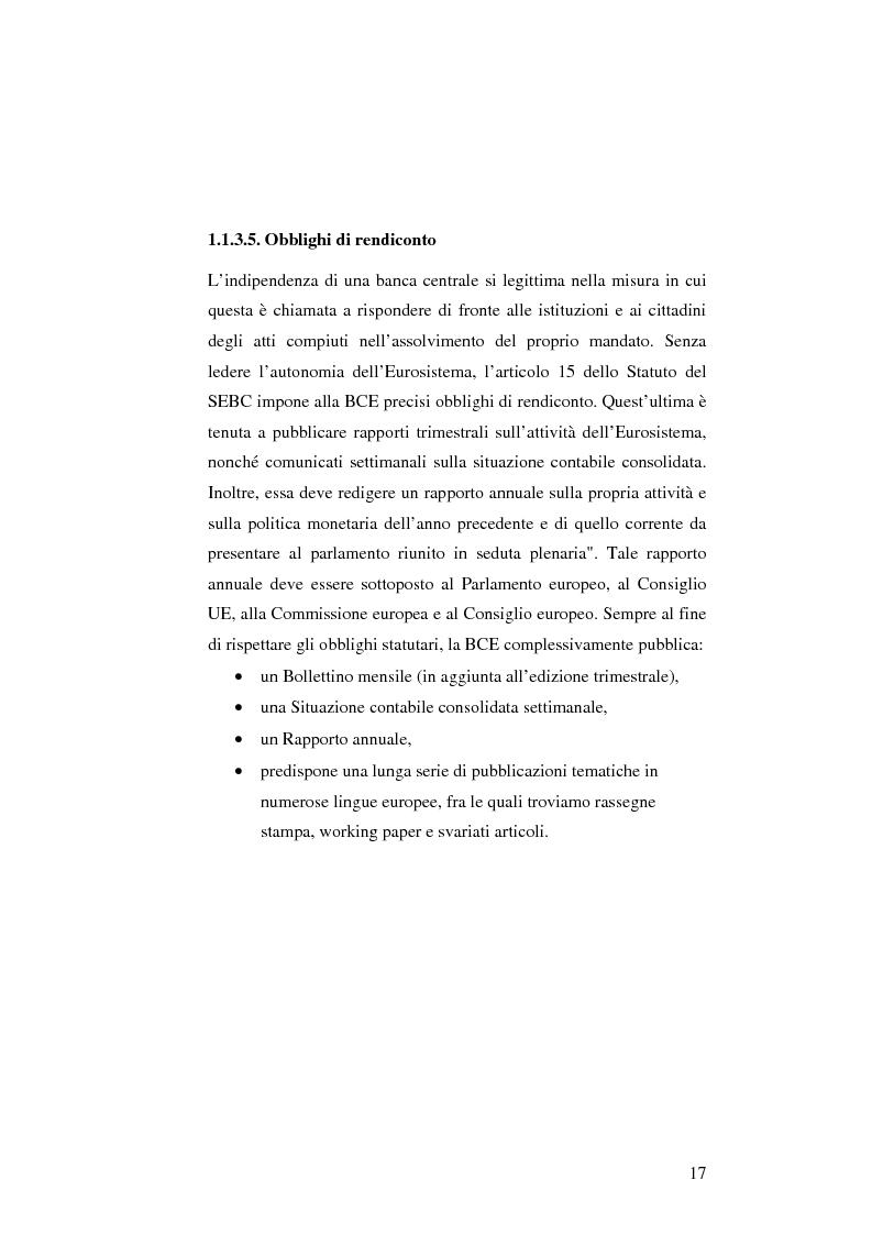 Anteprima della tesi: La politica monetaria della Banca Centrale Europea, Pagina 17