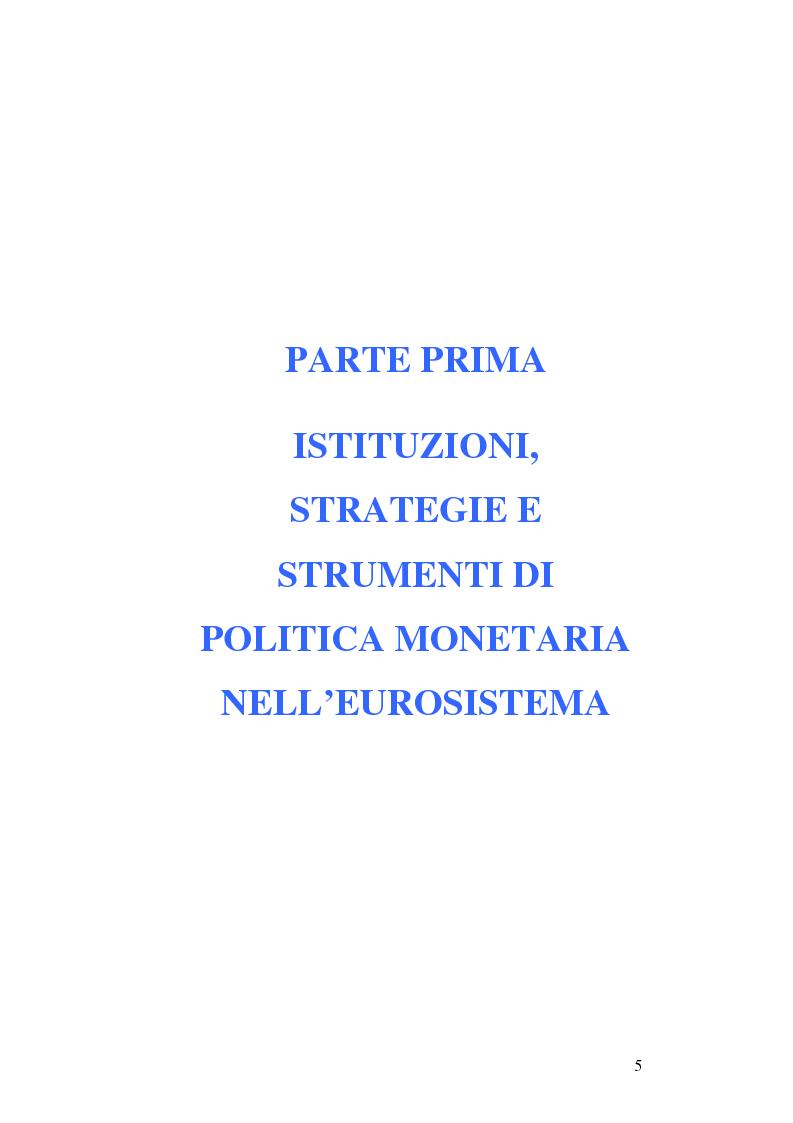 Anteprima della tesi: La politica monetaria della Banca Centrale Europea, Pagina 5