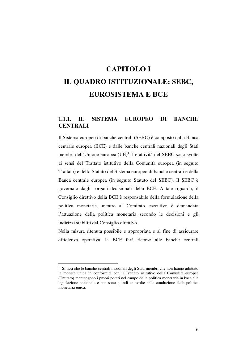 Anteprima della tesi: La politica monetaria della Banca Centrale Europea, Pagina 6