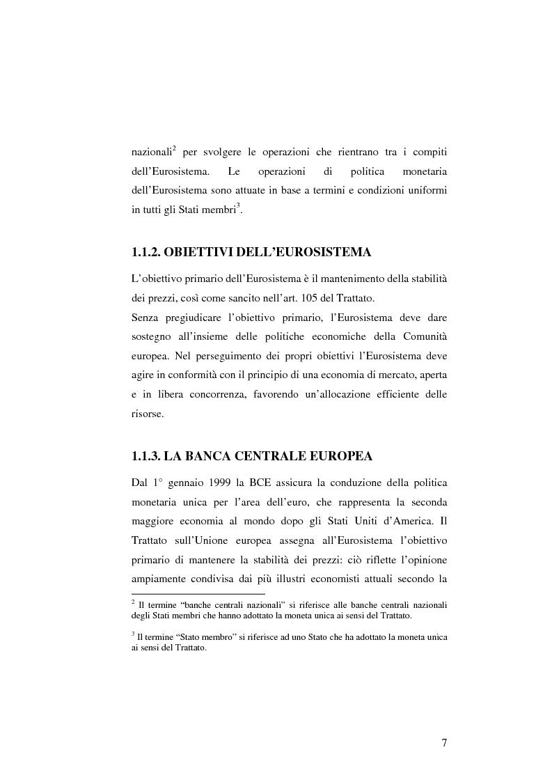 Anteprima della tesi: La politica monetaria della Banca Centrale Europea, Pagina 7