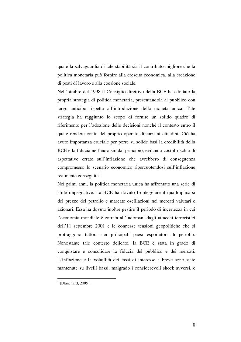 Anteprima della tesi: La politica monetaria della Banca Centrale Europea, Pagina 8