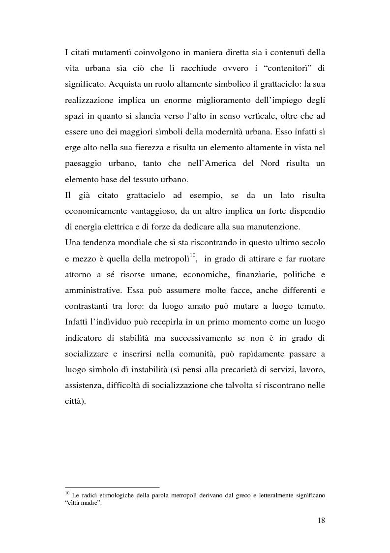 Anteprima della tesi: Tra città e periferia nel postmoderno, analisi di alcuni aspetti innovativi, Pagina 14