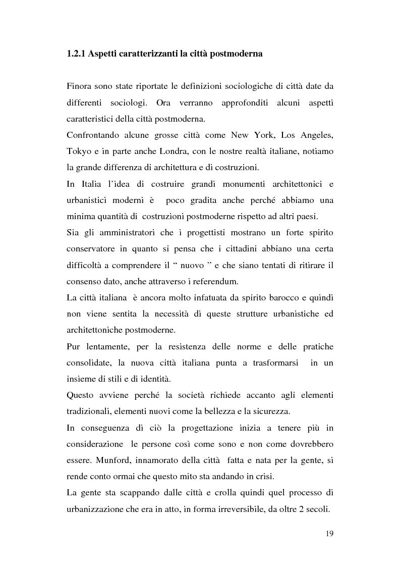 Anteprima della tesi: Tra città e periferia nel postmoderno, analisi di alcuni aspetti innovativi, Pagina 15