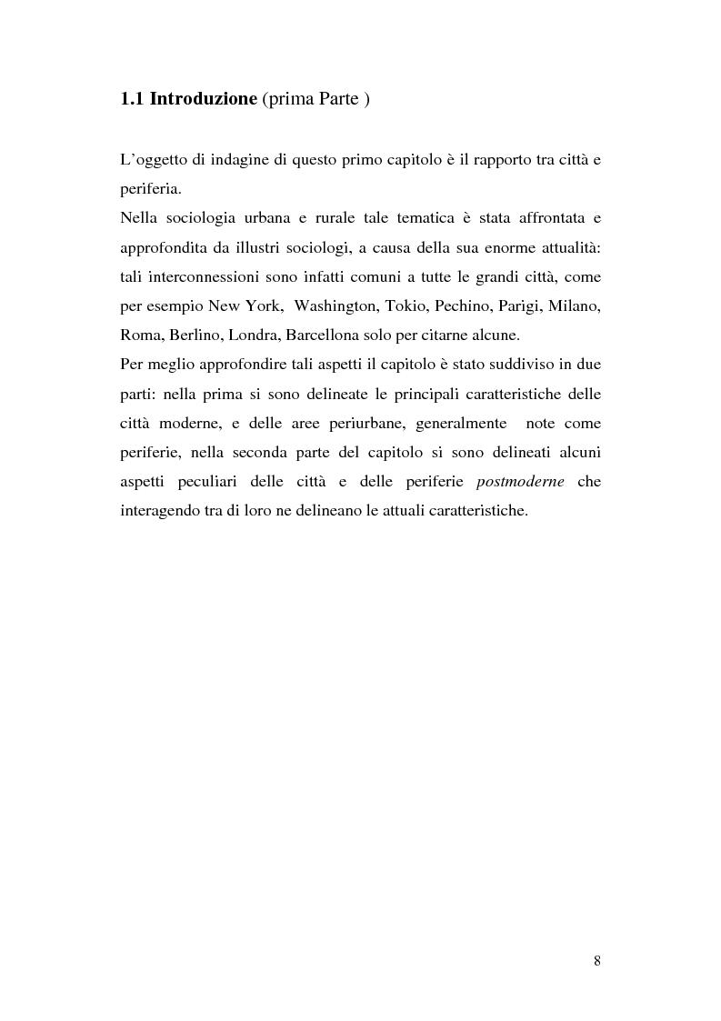 Anteprima della tesi: Tra città e periferia nel postmoderno, analisi di alcuni aspetti innovativi, Pagina 4