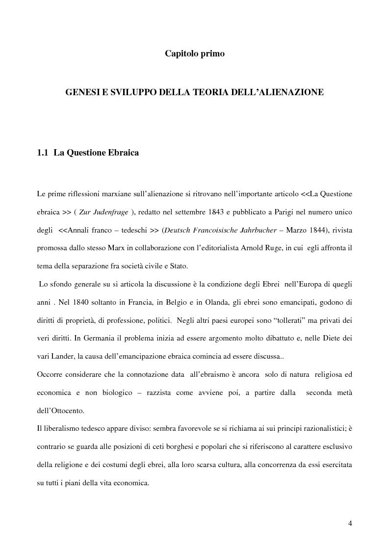Anteprima della tesi: Alienazione in Marx, Pagina 3