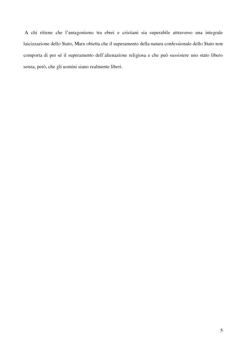 Anteprima della tesi: Alienazione in Marx, Pagina 4