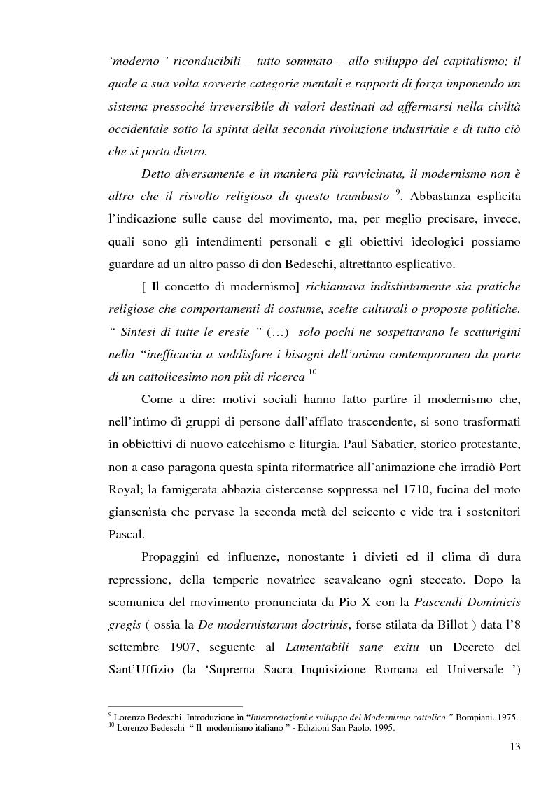 Anteprima della tesi: 1907: la crisi modernista nel ''Corriere della Sera'', Pagina 11