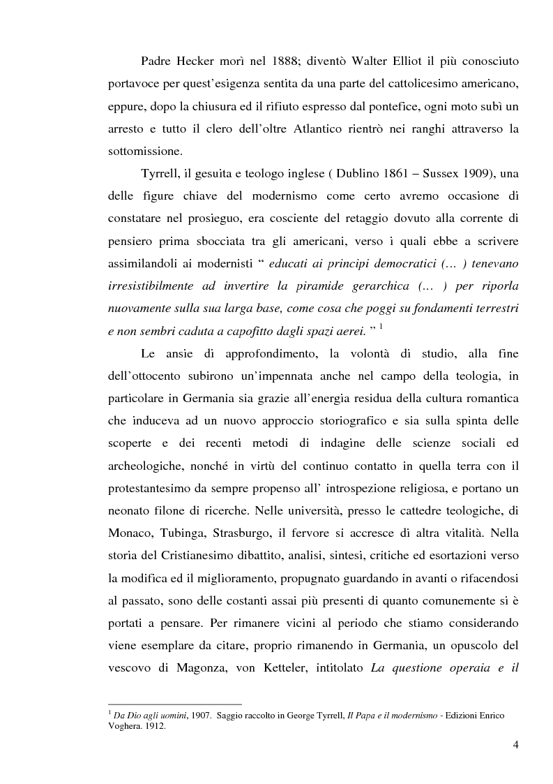 Anteprima della tesi: 1907: la crisi modernista nel ''Corriere della Sera'', Pagina 2