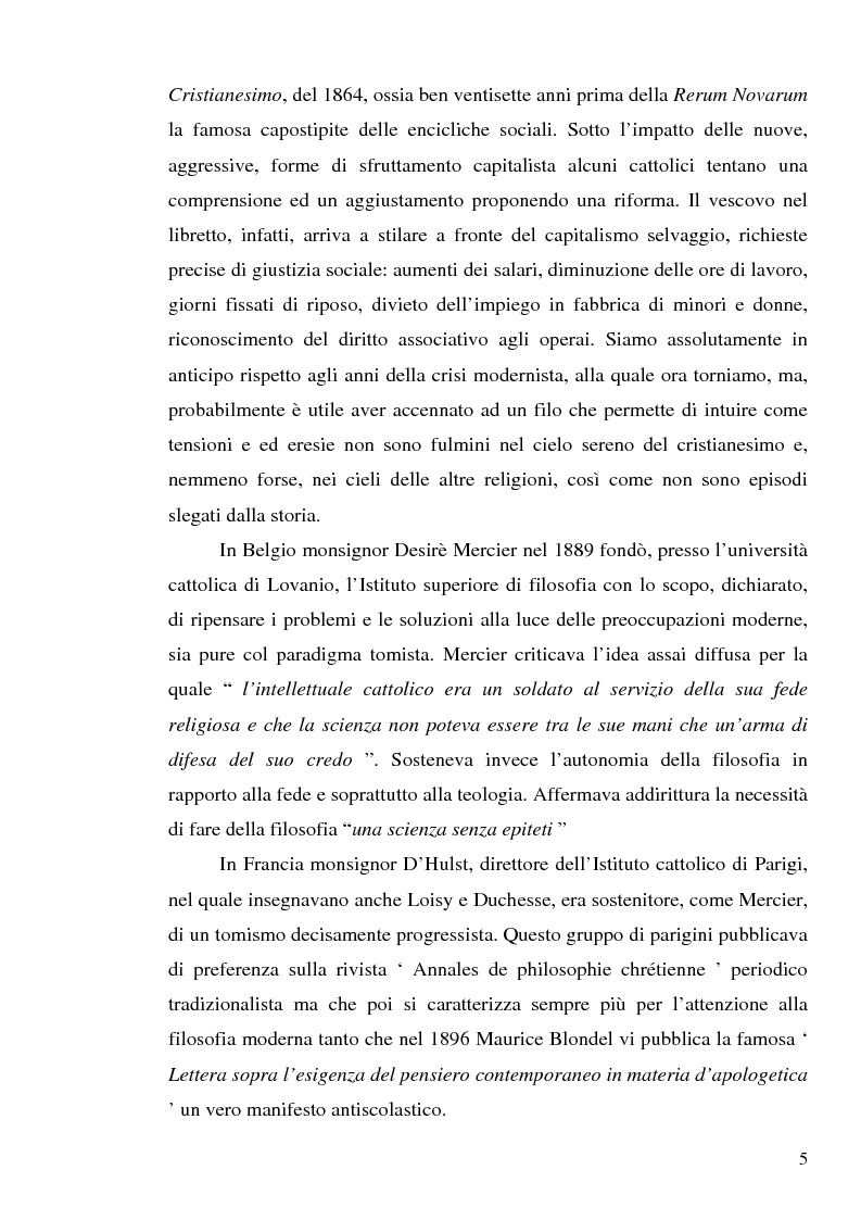 Anteprima della tesi: 1907: la crisi modernista nel ''Corriere della Sera'', Pagina 3
