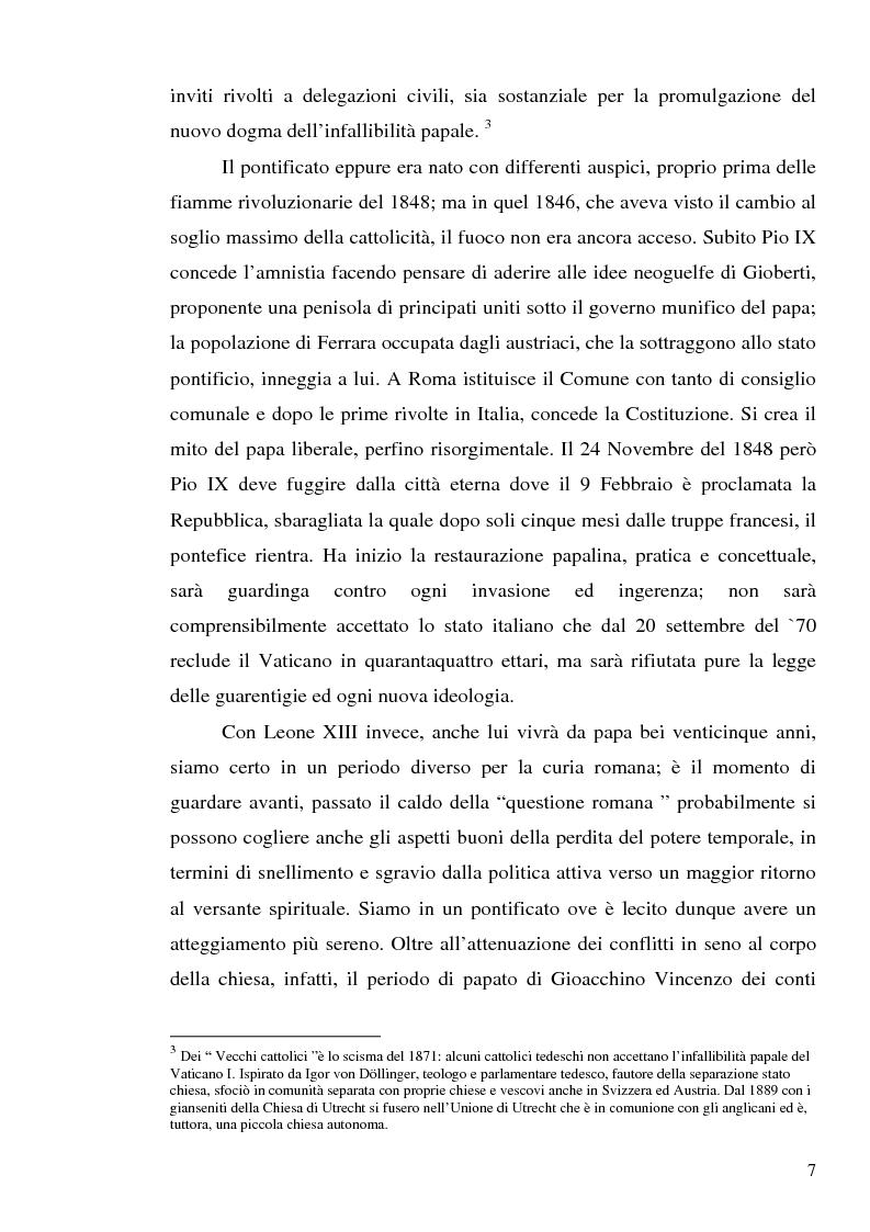 Anteprima della tesi: 1907: la crisi modernista nel ''Corriere della Sera'', Pagina 5