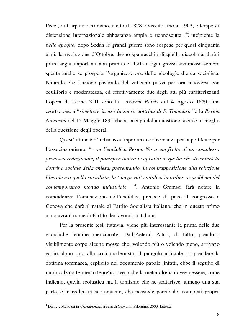 Anteprima della tesi: 1907: la crisi modernista nel ''Corriere della Sera'', Pagina 6