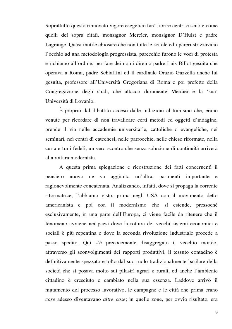 Anteprima della tesi: 1907: la crisi modernista nel ''Corriere della Sera'', Pagina 7