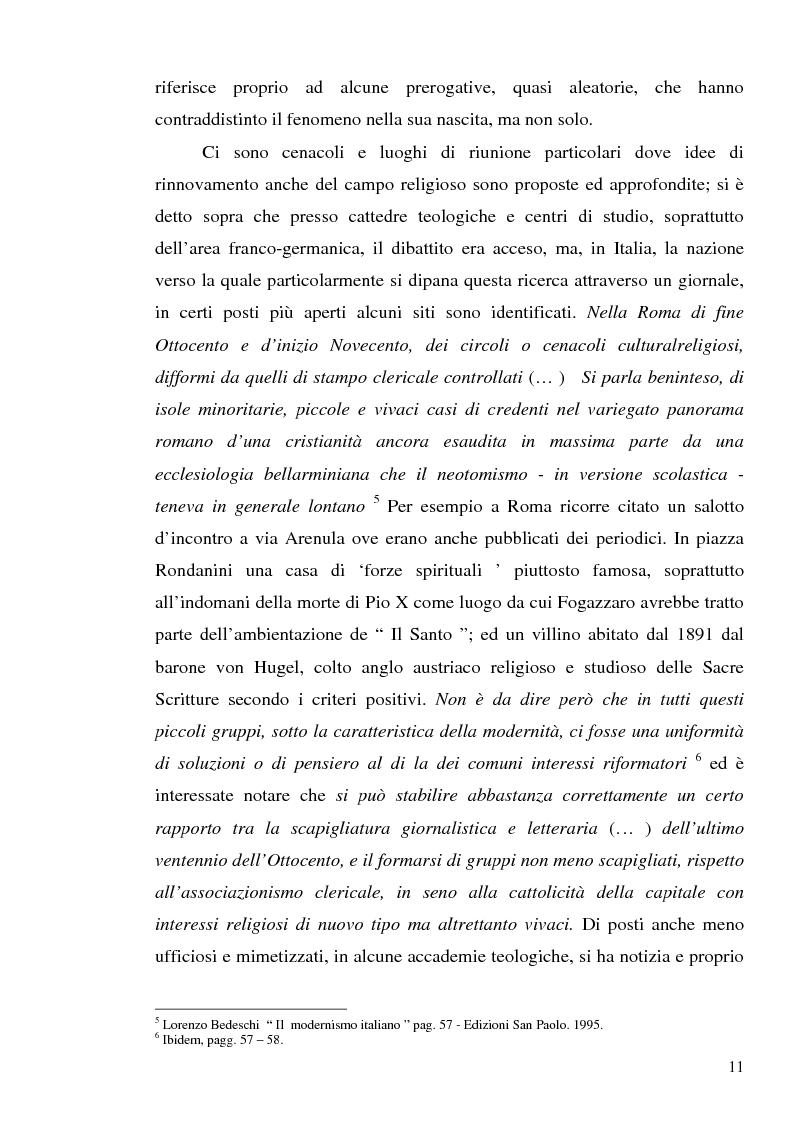 Anteprima della tesi: 1907: la crisi modernista nel ''Corriere della Sera'', Pagina 9
