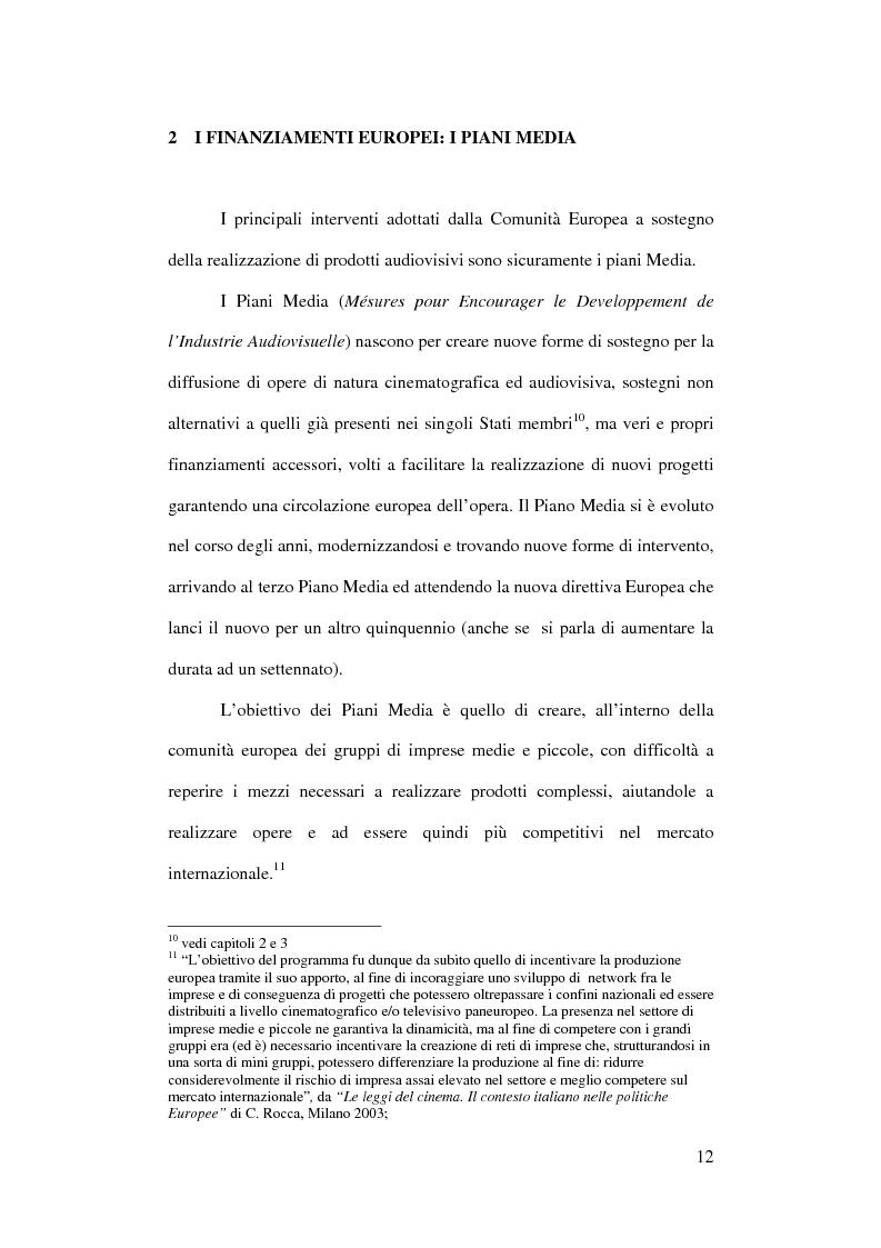 Anteprima della tesi: L'Europa dei giovani: sovvenzioni e finanziamenti per giovani registi, Pagina 10