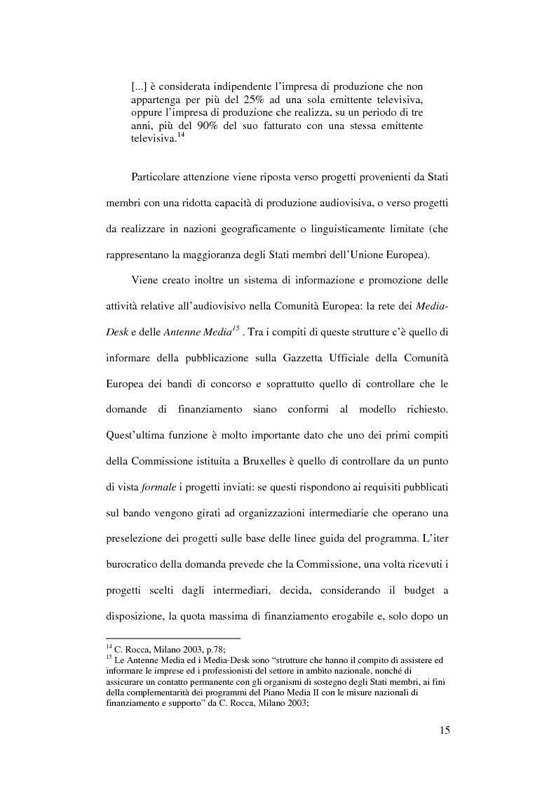 Anteprima della tesi: L'Europa dei giovani: sovvenzioni e finanziamenti per giovani registi, Pagina 13
