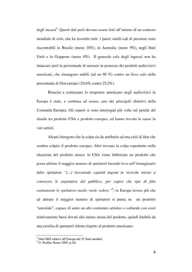 Anteprima della tesi: L'Europa dei giovani: sovvenzioni e finanziamenti per giovani registi, Pagina 6
