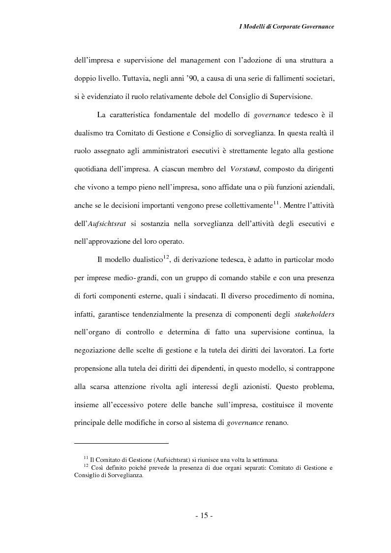 Anteprima della tesi: Gli amministratori indipendenti nella corporate governance italiana, Pagina 11