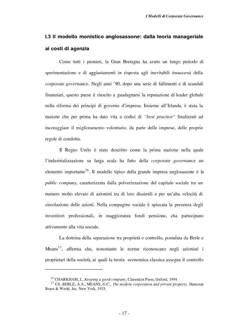 Anteprima della tesi: Gli amministratori indipendenti nella corporate governance italiana, Pagina 13