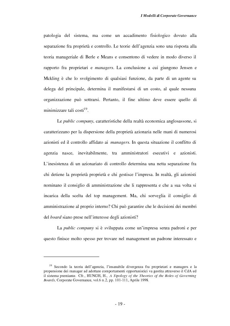 Anteprima della tesi: Gli amministratori indipendenti nella corporate governance italiana, Pagina 15