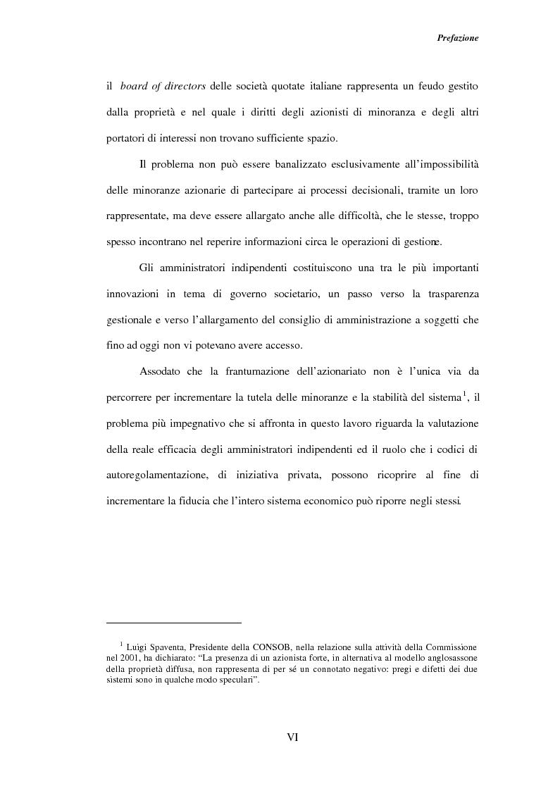 Anteprima della tesi: Gli amministratori indipendenti nella corporate governance italiana, Pagina 2