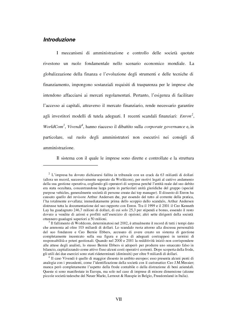 Anteprima della tesi: Gli amministratori indipendenti nella corporate governance italiana, Pagina 3
