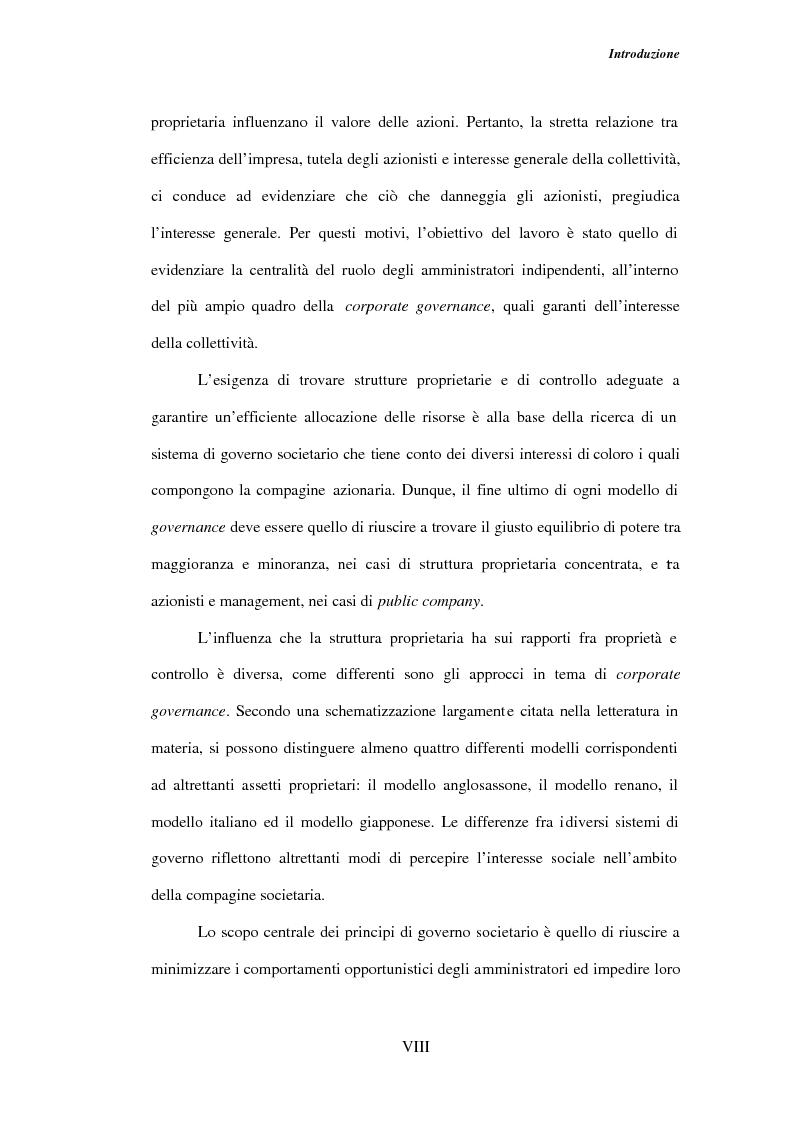 Anteprima della tesi: Gli amministratori indipendenti nella corporate governance italiana, Pagina 4