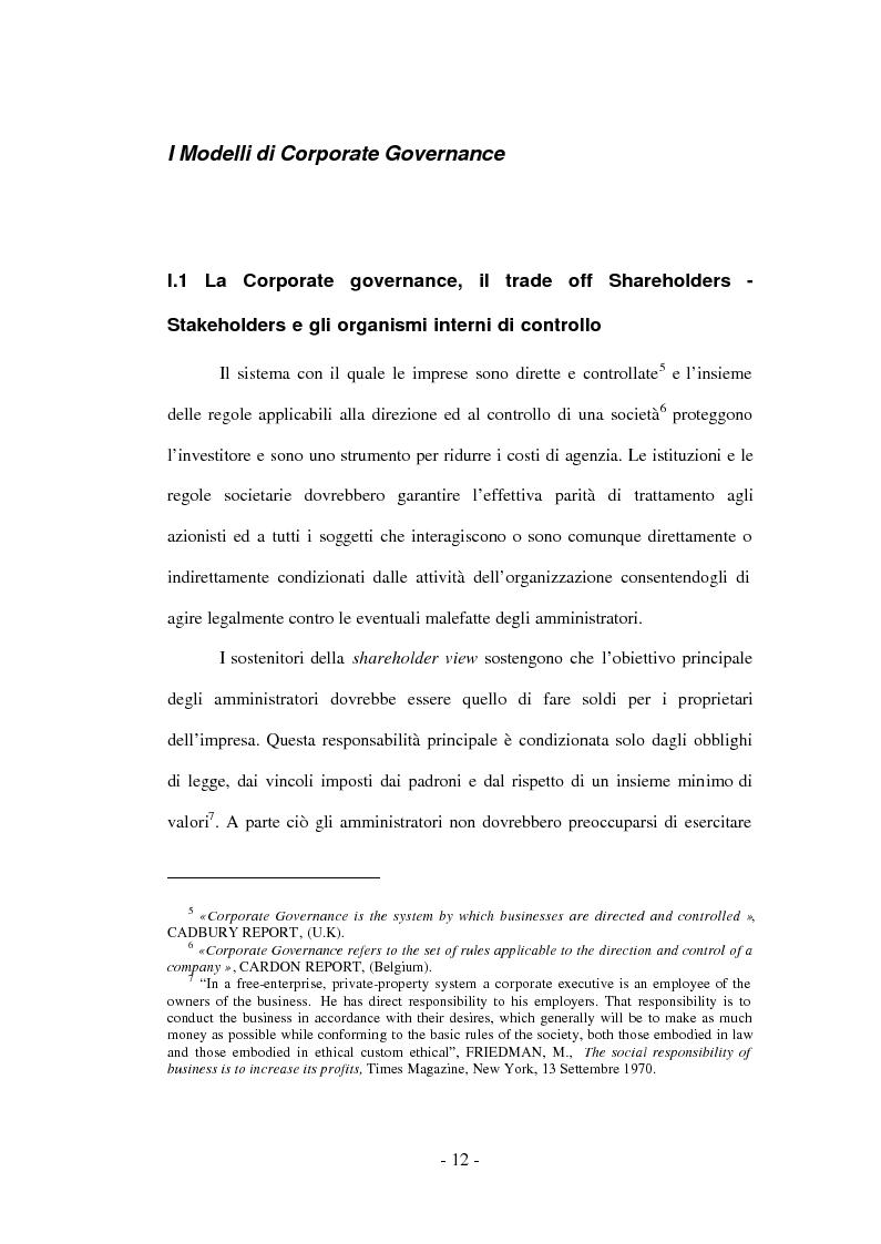 Anteprima della tesi: Gli amministratori indipendenti nella corporate governance italiana, Pagina 8
