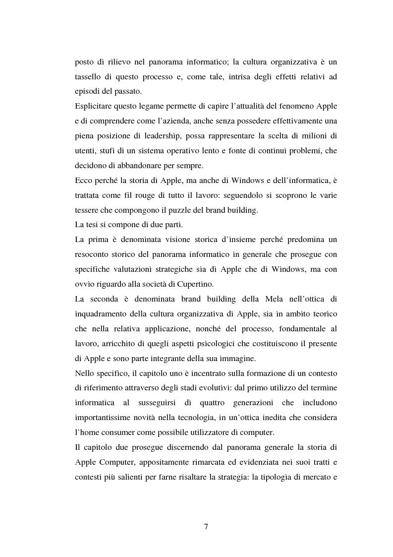 Anteprima della tesi: Aspetti psicologici del processo di brand building nel campo informatico. Il caso Mac., Pagina 3