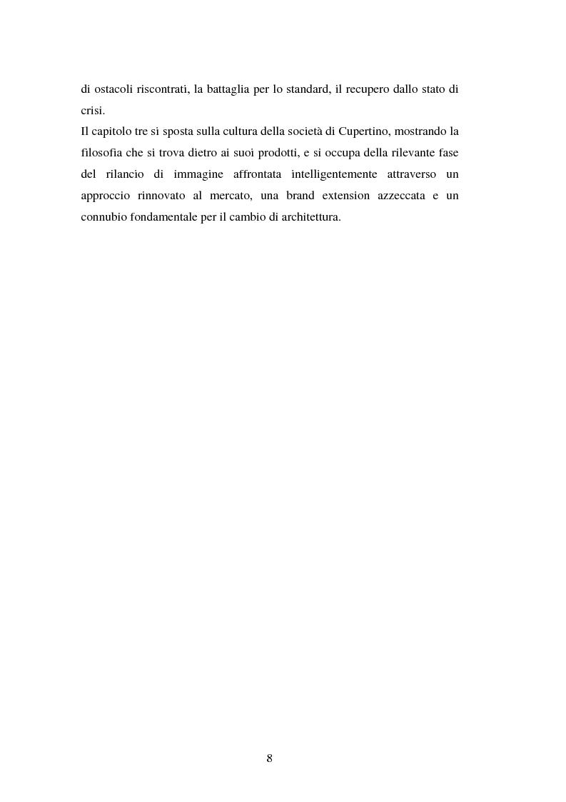 Anteprima della tesi: Aspetti psicologici del processo di brand building nel campo informatico. Il caso Mac., Pagina 4