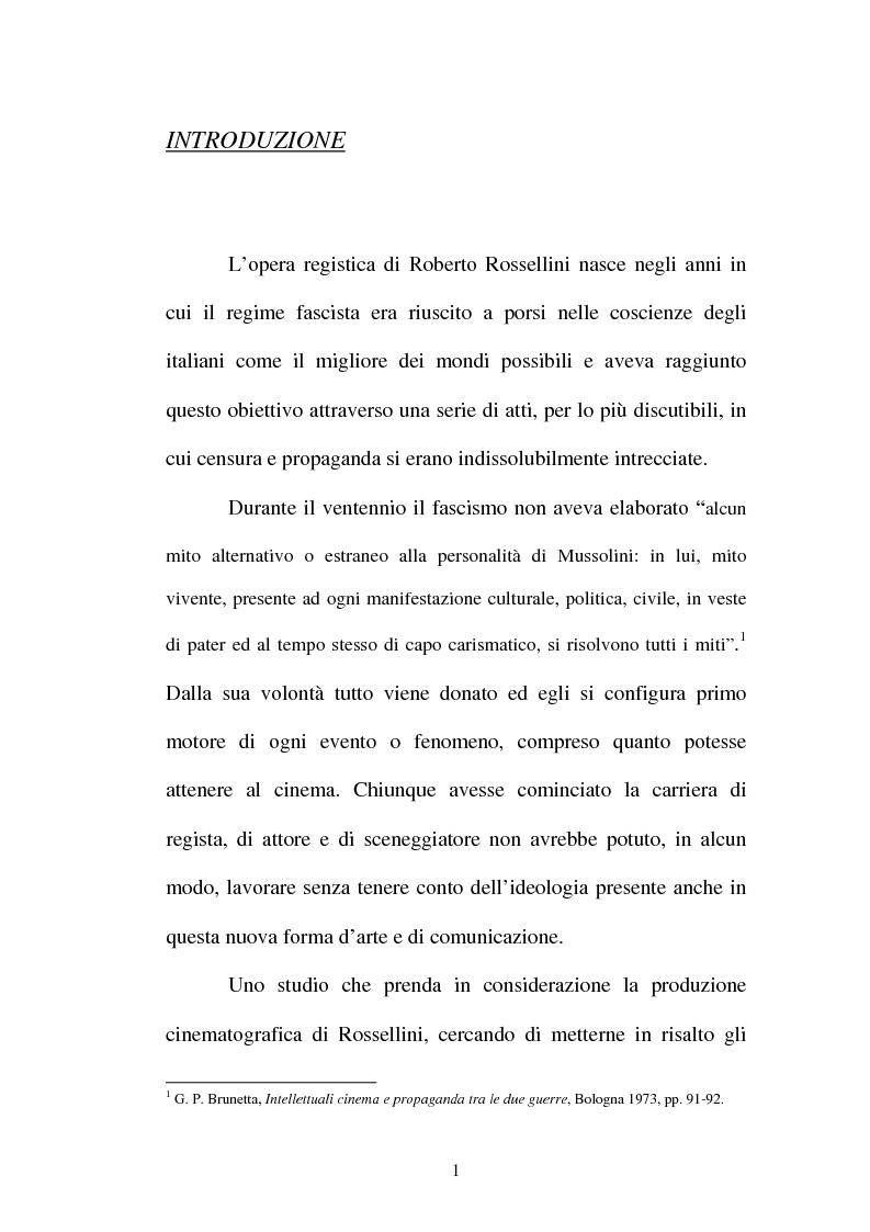 Anteprima della tesi: La continuità tematica ed artistica di Roberto Rossellini da ''La nave bianca'' a ''Germania anno zero'', Pagina 1