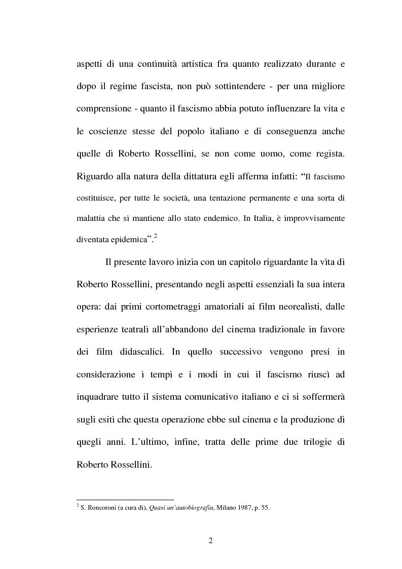 Anteprima della tesi: La continuità tematica ed artistica di Roberto Rossellini da ''La nave bianca'' a ''Germania anno zero'', Pagina 2