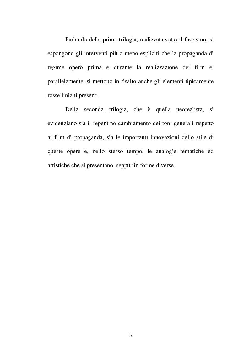 Anteprima della tesi: La continuità tematica ed artistica di Roberto Rossellini da ''La nave bianca'' a ''Germania anno zero'', Pagina 3