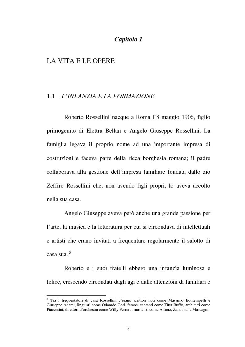 Anteprima della tesi: La continuità tematica ed artistica di Roberto Rossellini da ''La nave bianca'' a ''Germania anno zero'', Pagina 4