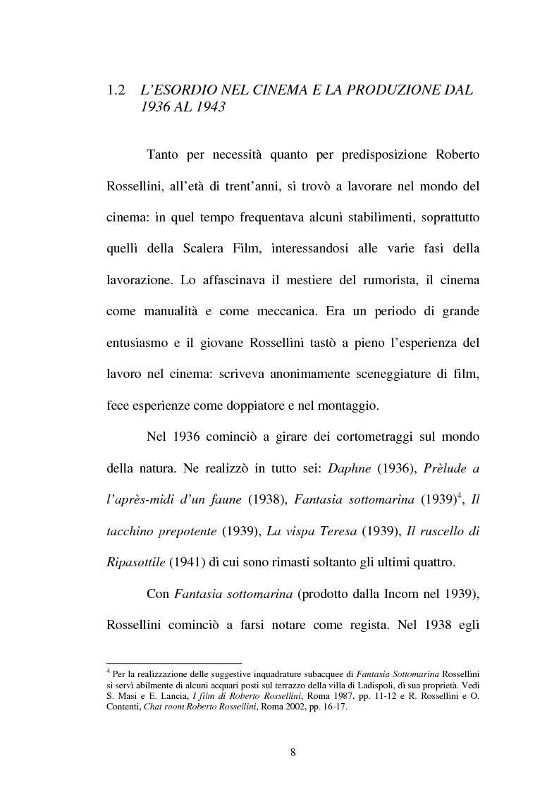 Anteprima della tesi: La continuità tematica ed artistica di Roberto Rossellini da ''La nave bianca'' a ''Germania anno zero'', Pagina 8