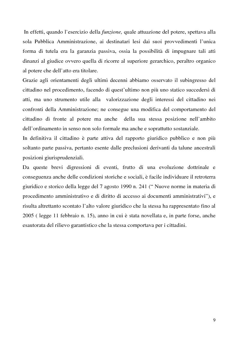 Anteprima della tesi: Invalidità formale degli atti amministrativi, Pagina 5