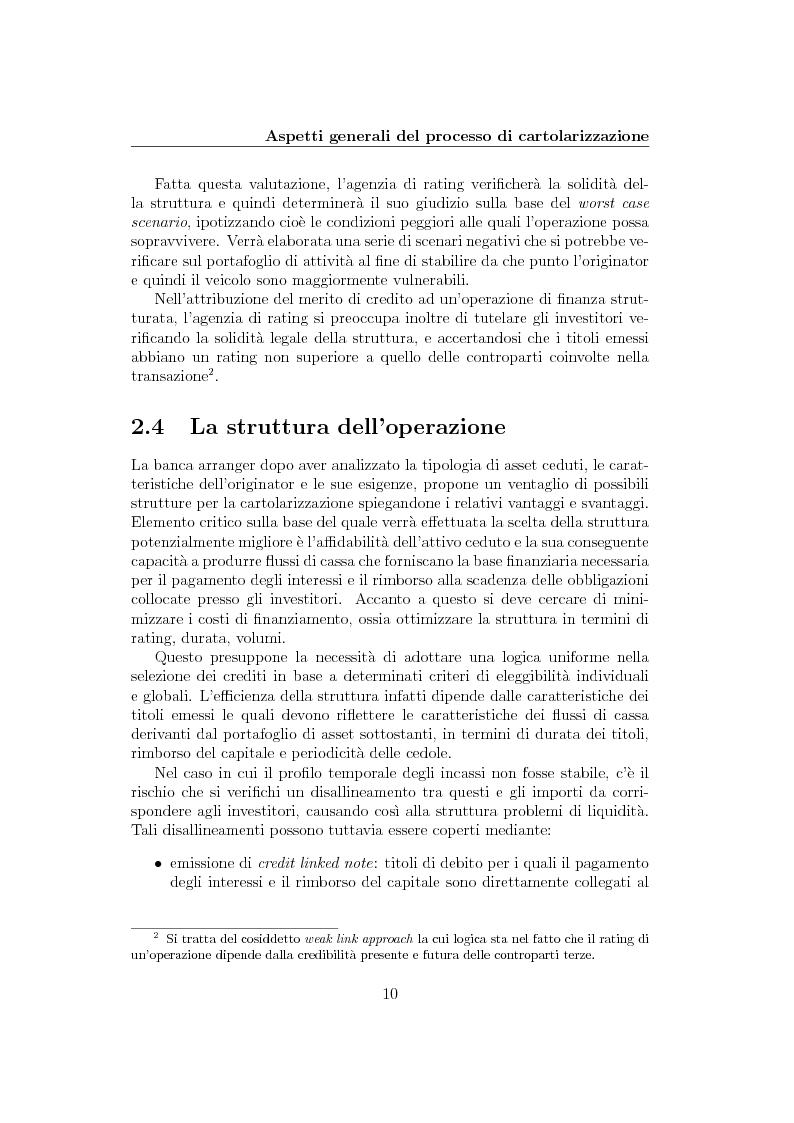 Anteprima della tesi: La cartolarizzazione del rischio di credito: il caso dei CDO, Pagina 10