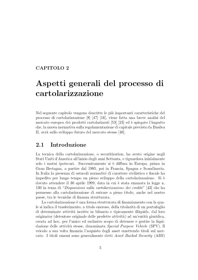 Anteprima della tesi: La cartolarizzazione del rischio di credito: il caso dei CDO, Pagina 5