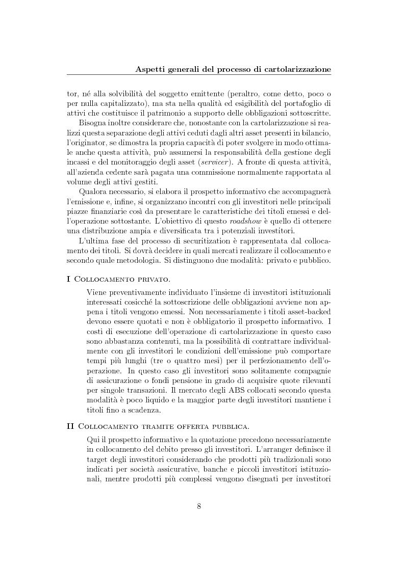 Anteprima della tesi: La cartolarizzazione del rischio di credito: il caso dei CDO, Pagina 8